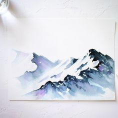 I absolutely love painting snowy mountains. I always thought that painting these… I absolutely love painting snowy mountains. I always thought that painting these would. Watercolor Pencil Art, Watercolor Art Landscape, Watercolor Projects, Watercolor Trees, Watercolour Tutorials, Watercolor Illustration, Mountains Watercolor, Watercolor Techniques, Tattoo Watercolor