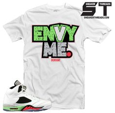 2631c55e1aa1 Fresh sneaker match Jordan 5 poison green sneaker tees shirts. All Jordans