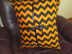 Chevron Print Halloween Pillow by 12dozen on Etsy