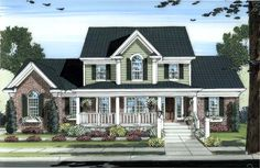 House Plan 98604 | Country Plan with 2326 Sq. Ft., 4 Bedrooms, 3 Bathrooms, 3 Car Garage at family home plans
