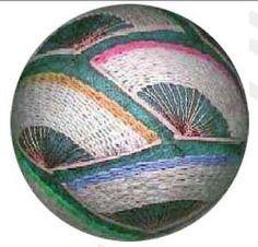 Temari Tutorial - Fans pattern on Craftsy.com