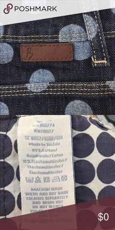 """MOD Polka Dot Denim Pencil So UK I love Boden polka dots they evoke London in the 1960s for me - or at least what I imagine it to have been like! This denim pencil is in like new condition. Although it's denim the tailoring could allow this to be very dressy, your call! Stretchy. 23""""L, waist 15/15.5"""" approx all lying flat. US 8L. Made in Tunisia. 89% cotton/11% elastane. Smoke free home. Boden Skirts Pencil"""