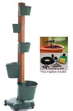 5 Planter Vertical Gardening System With Drip Irrigation System