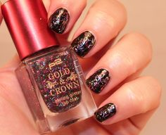p2 Gold&Crown Limited Edition - 020 Flashy multicolor Barglitter Topcoat - http://heidispolish.com/en/p2-goldcrown-flashy/