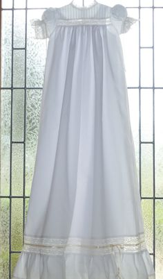 Girl's Heirloom Christening or Baptismal Gown by justforbabyonetsy, $215.00