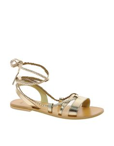 b9c399158948a ASOS FOREVER Leather Flat Sandals at asos.com