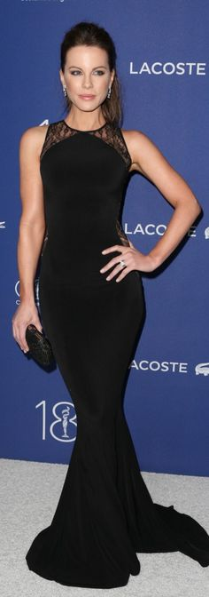 Kate Beckinsale's black lace gown