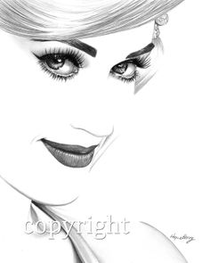 Katy Perry Pencil Portrait, pencil drawing, celebrity portrait, black and white, minimalist, graphite, illustration