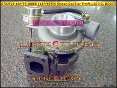 Free Ship GT2252S 452187-0001 452187-0003 709693 452187 Turbo Turbocharger For Nissan CabStar Trade M100 L35 1996- BD-30TI 3.0L