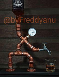 Alcohol Dispenser, Drink Dispenser, Crown Royal Drinks, Lampe Tube, Whiskey Girl, Pipe Lighting, Iron Shelf, Bourbon Drinks, Home Brewing Beer