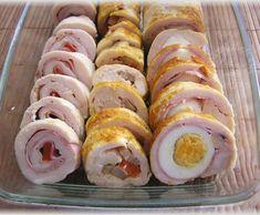 Fotorecept: Kuracie rolády No Salt Recipes, Meat Recipes, Snack Recipes, Cooking Recipes, Czech Recipes, Russian Recipes, Ethnic Recipes, Food Design, My Favorite Food