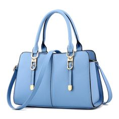Newest Design Female Bags Elegant Concise Sweet Fashion Lady Tote Handbags Solid Color Sky Blue Crossbody Bag