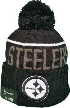 Pittsburgh Steelers Fleece Lined Black Pom Toque