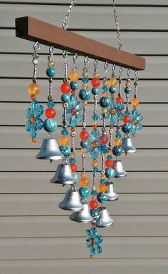 Windchimes.  I don't know why they terrify me.  Something about volitionless dangling things pushed helplessly by the wind drives me to psychotherapy. Crystal Wind Chimes, Glass Wind Chimes, Outdoor Chandelier, Margaritas, Blue Daisy, Acrylic Beads, Sun Catcher, Outdoor Art, Yard Art