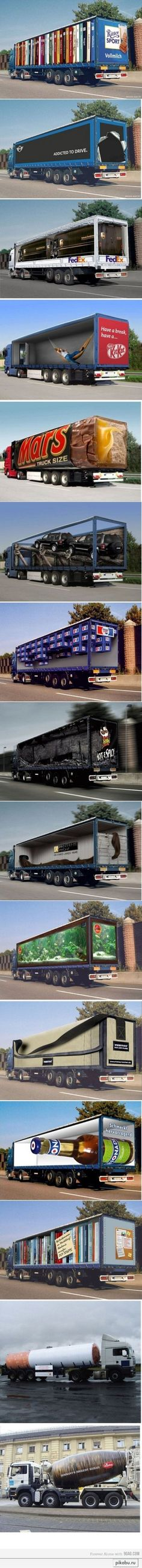 truck branding- would love to see these driving down the road