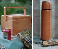 leather picnic goods.