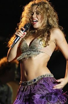 belly outfits Shakira dancing