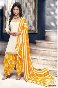 Get the fashion diva look like Hina Khan special white yellow punjabi patiala salwar suit online at lowest price in India. Purchase it with discount price offer. #salwarkameez, #cottonsalwarkameez, #casualsalwarlameez, #printedsalwarkameez, #patialasalwarkameez, #churidarsalwarkameez, #discountoffer, #pavitraafashion, #utsavfashion http://www.pavitraa.in/store/patiala-salwar-suit/ callus:+91-7698234040