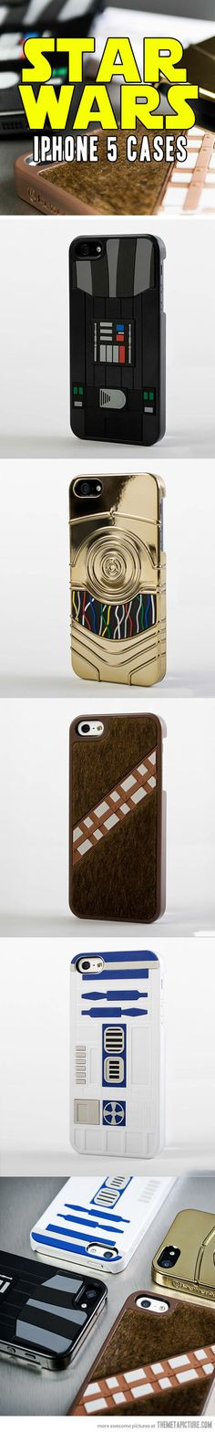 I can't decide between Chewbacca and R2D2. Star Wars iPhone 5 cases…