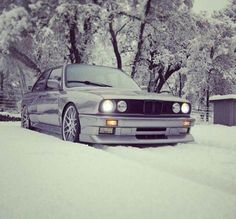 FB : https://www.facebook.com/fastlanetees The place for JDM Tees, pics, vids, memes & More THX for the support ;) BMW E30 3 series silver winter