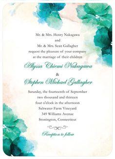 Wedding Paper Divas invites