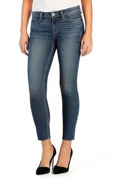 PAIGE 'Legacy - Verdugo' Ankle Ultra Skinny Jeans (Axel) available at #Nordstrom