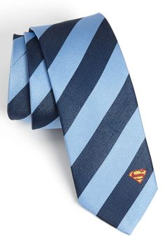 You know who they are..... get this for your super man, gift to your wedding party, Remind him who he is! DC Comics Superman Stripe Tie by DC Comics on @nordstrom_rack http://www.destinationweddings.travel/default.asp?sid=23734&pid=35479 #allweddingsallowed #allbridesallowed