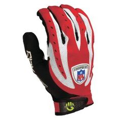 Reebok NFL Velocity Grip Football Gloves, (football gloves, receiving gloves, football, football gear, glove, gloves, nfl, receiver)