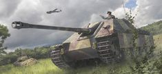 """The Jagdpanther (German: """"hunting panther"""") was a tank destroyer built by Nazi Germany during World War II based on the chassis of the Panther tank. The hunting panther Super Pictures, Military Drawings, Tank Armor, War Thunder, Tank Destroyer, Armored Fighting Vehicle, Ww2 Tanks, World Of Tanks, Armored Vehicles"""