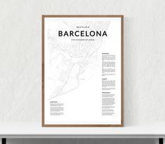 Barcelona map print City map of Barcelona par LionartPrints sur Etsy