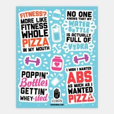 Funny+Fitness+Stickers