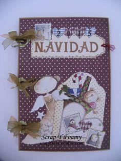 Album de Navidad con la colección de ArteandScrap Navidades de Trapo Christmas!!