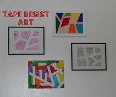 Tape Resist Art - The Imagination Tree