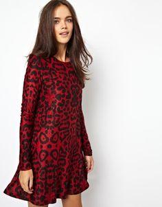 Glamorous Swing Dress in Leopard Print