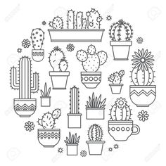 cactus drawing - Google Search