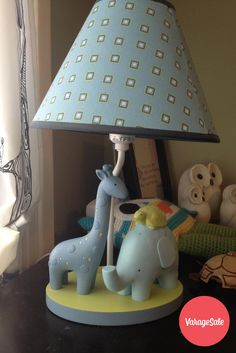 Adorable pastel blue giraffe and elephant childrens lamp. A perfect addition to a nursery or toddlers room. In excellent condition .Asking $10. Find this and other great deals locally in your community on www.varagesale.com