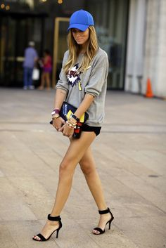 Love these shoes and short shorts, but still fit with CAP! love