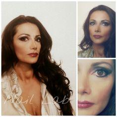 Saturday night #makeup #trucco #naillab #colore #eyeshadow #piazzaeschilo #naillabspa #naillab&spa #smokeyeye #kajal # lipstick