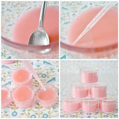 Hand-made strawberry lip balm