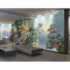 decomonkey Trompe l oeil D/éco Mural Tableaux Muraux Photo Fleur Nature Spa Papier peint intiss/é Orchid/ée 400x280 cm