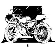 Cafe Racer Design by Downshift Studio #illustration #design #caferacer #motorcycles #motos | caferacerpasion.com
