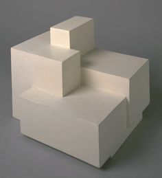 Ben Nicholson OM 'circa 1936 (sculpture)', © Angela Verren Taunt All rights reserved, DACS Level Structure and Clarity, Room 2 Plaster Sculpture, Art Sculpture, Geometric Sculpture, Abstract Sculpture, Drawn Art, Modelos 3d, Light And Shadow, Installation Art, Geometric Shapes