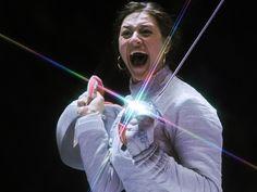 Jana Egorian, Ryssland vann guld i damernas sabel, silver till Sofja Vevikaja, Ryssland, brons Olga Kharlan, Ukraina.