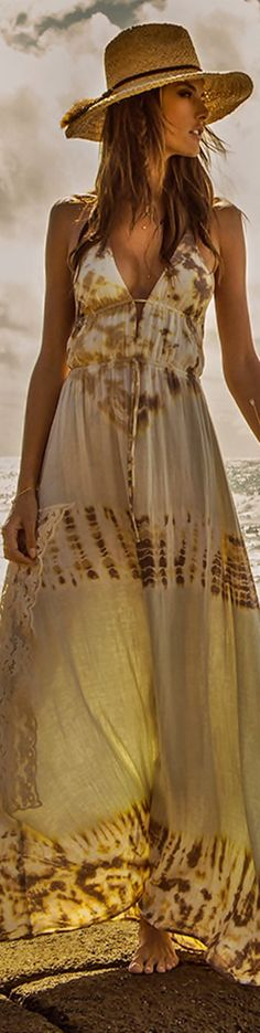 Boho Style ~ bohemian boho style hippy hippie chic bohème vibe gypsy fashion indie folk dress