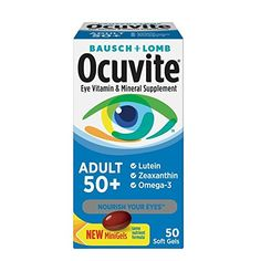 d2863497f515b Bausch   Lomb Ocuvite Adult 50+ Eye Vitamin   Mineral Softgels 50 ea ( Pack  of 2 )