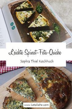 Sophia Thiel leichte Spinat-Feta-Quiche - einfach schlank & Fit Low Carb, Cooking, Spinach Recipes, Spinach Feta Quiche, Bircher Muesli, Casserole, Kitchen, Brewing, Cuisine