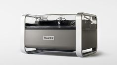 Wazer Waterjet Cutter can cut through any material, with digital precision, using high pressure water. The compact Wazer Waterjet Cutter self-contained desktop unit, uses a high-pressure water and… Desktop, Diy Cnc, Mass Market, Storage Design, Cnc Machine, Cnc Router, Industrial Design, 3d Printing, At Least