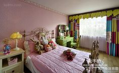 American style kids room decoration effect picture 2014 2016