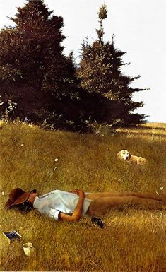 Andrew Wyeth - Distant Thunder, 1961 Philadelphia Museum of Art at Wyeth Exhibit National Art Gallery Washington DC (Exhibition Postcard) Jamie Wyeth, Andrew Wyeth Art, Nc Wyeth, Philadelphia Museum Of Art, Mellow Yellow, Dog Art, American Artists, Photos, Pictures