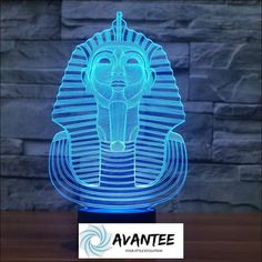Illusion LED Night Light 7 Color Pharaoh Decoration with Touch Switch USB Cable Nice